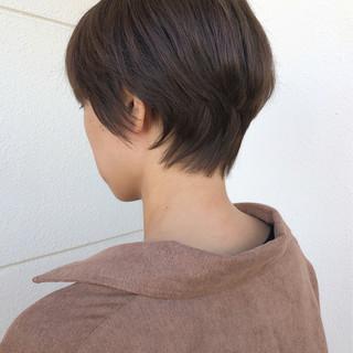 ナチュラル ベリーショート ハンサムショート ショート ヘアスタイルや髪型の写真・画像