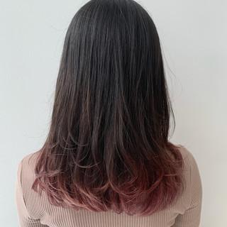ロング ピンク ラベンダーピンク ベリーピンク ヘアスタイルや髪型の写真・画像