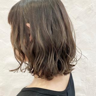 透明感カラー ストリート 切りっぱなしボブ ボブ ヘアスタイルや髪型の写真・画像