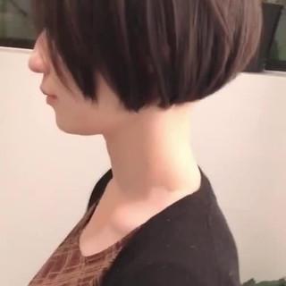ミニボブ ショートボブ 大人ショート ストレート ヘアスタイルや髪型の写真・画像
