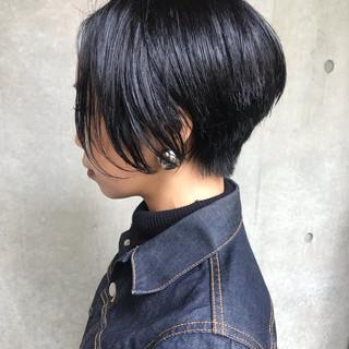 アンニュイほつれヘア モード パーマ ショート ヘアスタイルや髪型の写真・画像