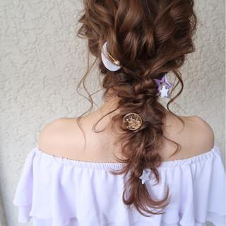 ナチュラル ヘアアレンジ 結婚式 パーティ ヘアスタイルや髪型の写真・画像