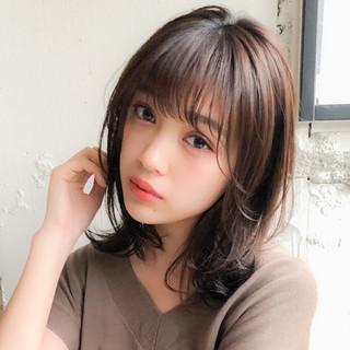 デジタルパーマ ミルクティーベージュ 外ハネ 毛先パーマ ヘアスタイルや髪型の写真・画像