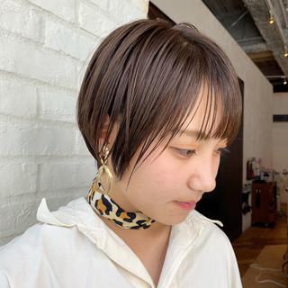 ナチュラル ショートボブ ショート ヘアアレンジ ヘアスタイルや髪型の写真・画像