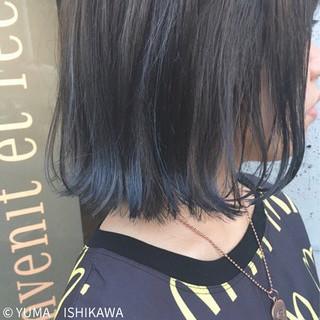 ストリート ネイビー ブルー ブルージュ ヘアスタイルや髪型の写真・画像