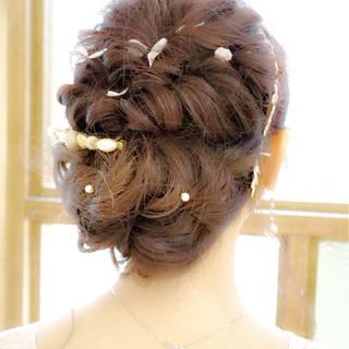 ヘアアレンジ セミロング アップスタイル 簡単ヘアアレンジ ヘアスタイルや髪型の写真・画像