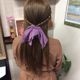 ナチュラル ロング ヘアアレンジ ヘアカラー ヘアスタイルや髪型の写真・画像