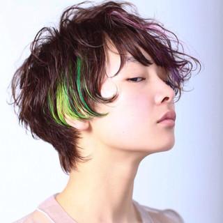 ブリーチ ストリート ショート 丸顔 ヘアスタイルや髪型の写真・画像