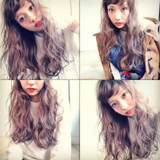 ラフ オン眉 ロング 秋 ヘアスタイルや髪型の写真・画像