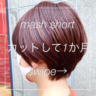 大人ショート ショートヘア マッシュショート ナチュラル ヘアスタイルや髪型の写真・画像