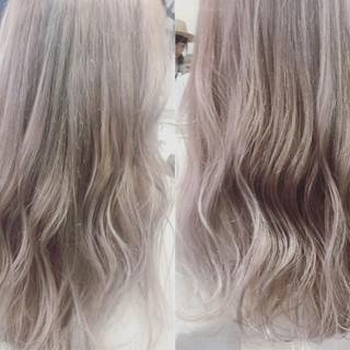 ハイトーン ヘアアレンジ ホワイト ガーリー ヘアスタイルや髪型の写真・画像