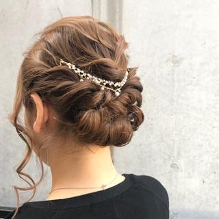 エレガント アッシュ ヘアアレンジ ミディアム ヘアスタイルや髪型の写真・画像