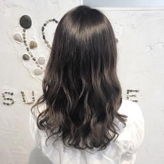 アンニュイ 外国人風 暗髪 グラデーションカラー ヘアスタイルや髪型の写真・画像