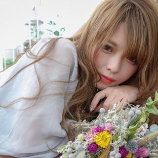 モテ髪 大人かわいい フェミニン ドライフラワー ヘアスタイルや髪型の写真・画像