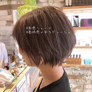 ショート ショートボブ 大人可愛い アンニュイほつれヘア ヘアスタイルや髪型の写真・画像