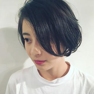 ボブ 外国人風 フェミニン ナチュラル ヘアスタイルや髪型の写真・画像