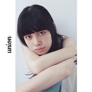 ピュア 暗髪 大人かわいい ストレート ヘアスタイルや髪型の写真・画像