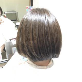 ストリート 暗髪 ボブ ハイライト ヘアスタイルや髪型の写真・画像