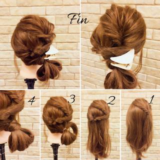 デート ヘアアレンジ 春 ナチュラル ヘアスタイルや髪型の写真・画像