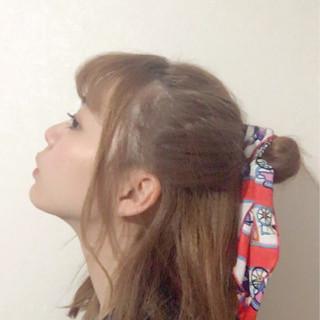 前髪あり ヘアアレンジ ガーリー ショート ヘアスタイルや髪型の写真・画像