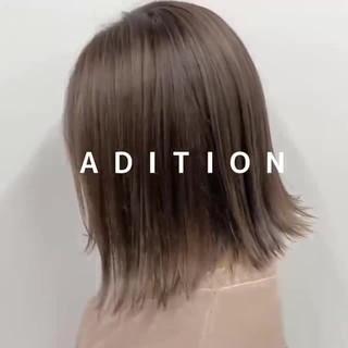 3Dハイライト ボブ 切りっぱなしボブ 外ハネボブ ヘアスタイルや髪型の写真・画像