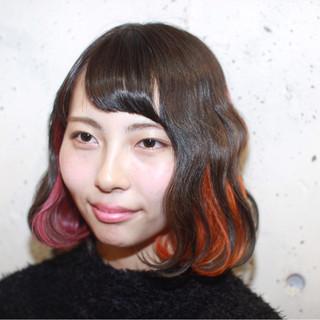 ゆるふわ ストリート ブリーチ ピンク ヘアスタイルや髪型の写真・画像