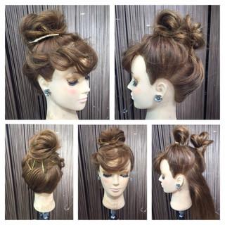 簡単ヘアアレンジ ヘアアレンジ ヘアピン セミロング ヘアスタイルや髪型の写真・画像