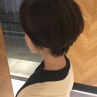 モード ハンサムショート ハンサム ショート ヘアスタイルや髪型の写真・画像
