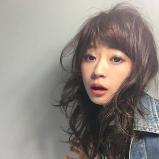 ヘアアレンジ セミロング 外国人風 ストリート ヘアスタイルや髪型の写真・画像