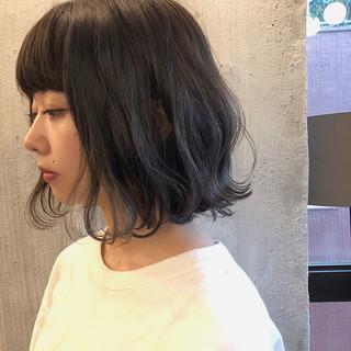 外国人風カラー ボブ スモーキーカラー 暗髪 ヘアスタイルや髪型の写真・画像