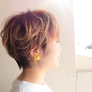 ベリーショート ショート フェミニン ショートヘア ヘアスタイルや髪型の写真・画像