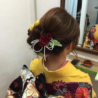 結婚式 大人女子 ヘアアレンジ 着物 ヘアスタイルや髪型の写真・画像