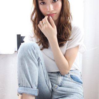 外国人風カラー モテ髪 ナチュラル 大人かわいい ヘアスタイルや髪型の写真・画像