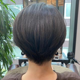 ショートヘア ショート 大人かわいい ミニボブ ヘアスタイルや髪型の写真・画像