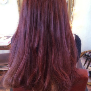 外国人風 ガーリー ロング ブリーチ ヘアスタイルや髪型の写真・画像