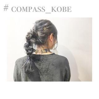 外国人風カラー アッシュベージュ セミロング ショート ヘアスタイルや髪型の写真・画像