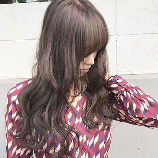秋 アッシュ 冬 ロング ヘアスタイルや髪型の写真・画像