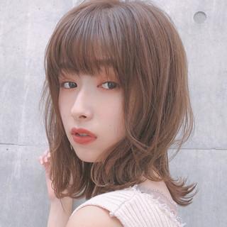 デート モテ髪 ミディアム デジタルパーマ ヘアスタイルや髪型の写真・画像