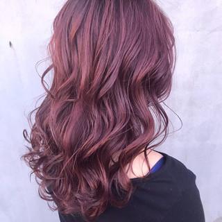 ラベンダーピンク セミロング ラベンダー ラベンダーカラー ヘアスタイルや髪型の写真・画像