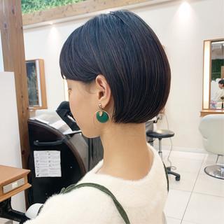 ミニボブ ショートボブ ショート 大人可愛い ヘアスタイルや髪型の写真・画像