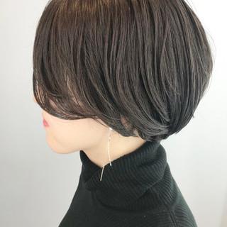 ショート ナチュラル オフィス ハンサムショート ヘアスタイルや髪型の写真・画像