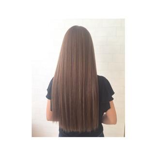 外国人風 暗髪 ハイライト ロング ヘアスタイルや髪型の写真・画像