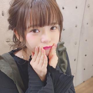 ヘアアレンジ ポニーテール ミディアム ナチュラル ヘアスタイルや髪型の写真・画像