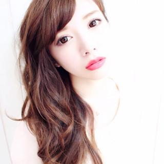 愛され ブラウン 色気 外国人風 ヘアスタイルや髪型の写真・画像