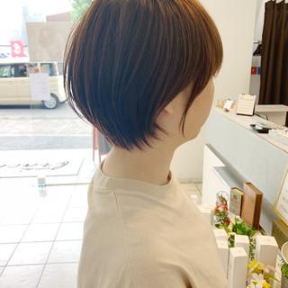 ミニボブ ショート ショートヘア 切りっぱなしボブ ヘアスタイルや髪型の写真・画像