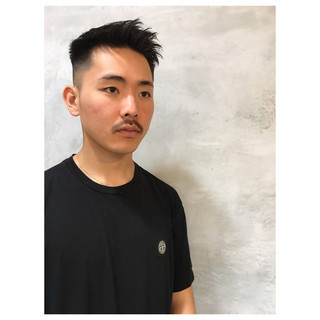 メンズヘア ストリート 黒髪 刈り上げ ヘアスタイルや髪型の写真・画像
