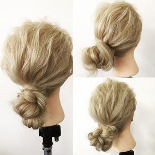 ローポニーテール ショート 外国人風 簡単ヘアアレンジ ヘアスタイルや髪型の写真・画像