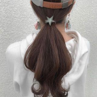 スポーツ ロング 簡単ヘアアレンジ 黒髪 ヘアスタイルや髪型の写真・画像