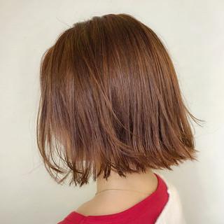 デート オレンジベージュ モード オレンジ ヘアスタイルや髪型の写真・画像