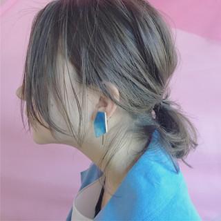 アッシュ 色気 大人女子 ハイライト ヘアスタイルや髪型の写真・画像